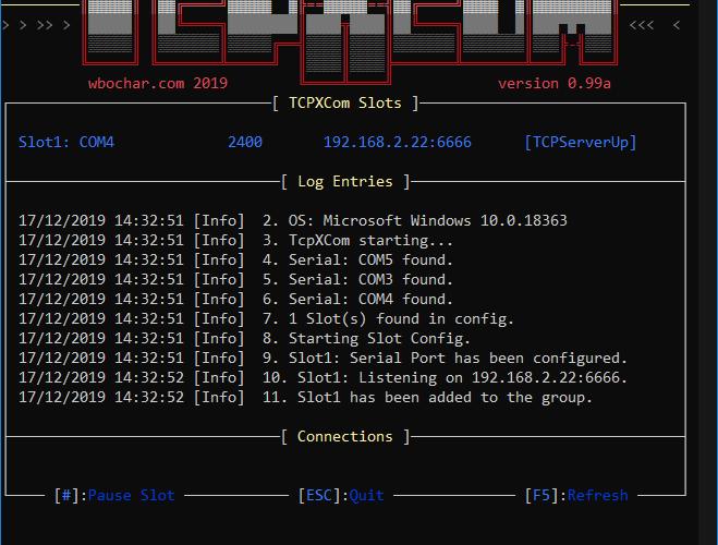 TCPXCOM: Tcp  Serial Gateway