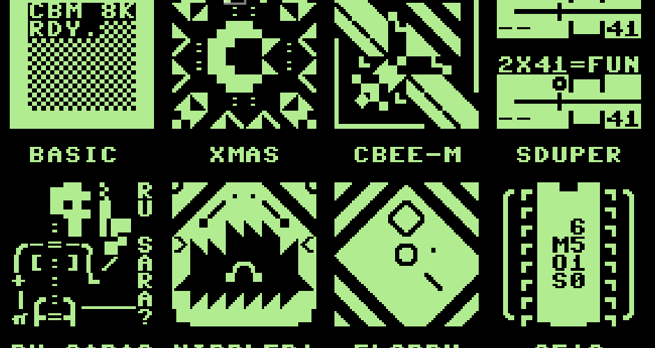 PETSCII 8×8 Blocks