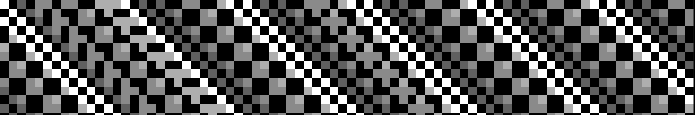 PETSCII 4×4 Chunky Diagonal Pattern Dither Tricks